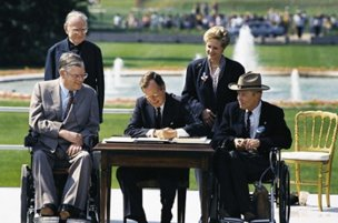 I WAS AT THE WHITE HOUSE 22 YEARS AGO TODAY WHEN THE ADA WAS SIGNED INTO LAW